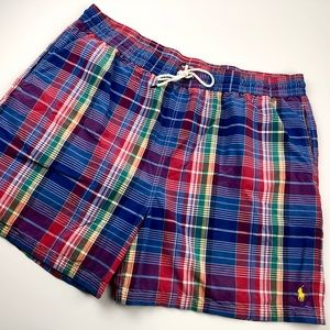 Polo Ralph Lauren Swim Trunks Mesh Lined Plaid 3XB
